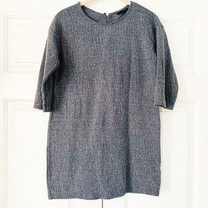 Gray Top Shop Tunic Length  Popover Top Size 4